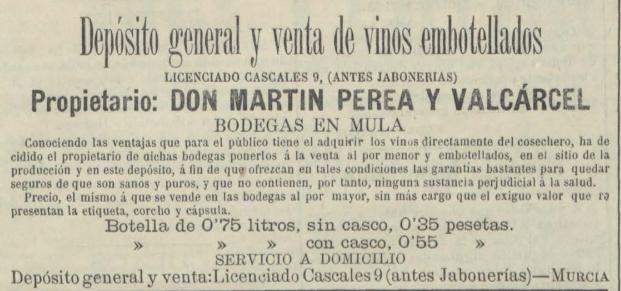 Publicidad del Vino Perea