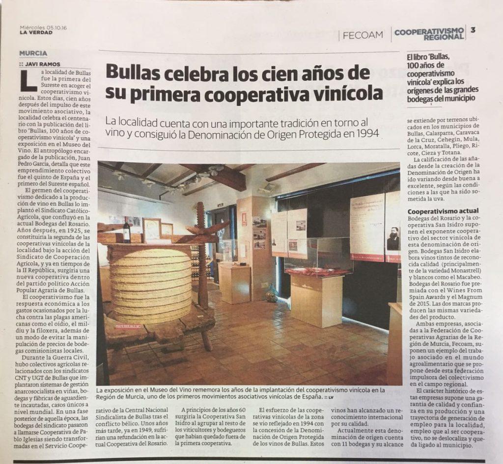 Artículo La Verdad de Murcia